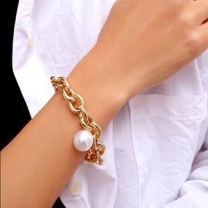 Silver Gold Tone Chunky Bracelet